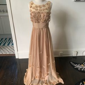NWT Formal Nude Floral Dress